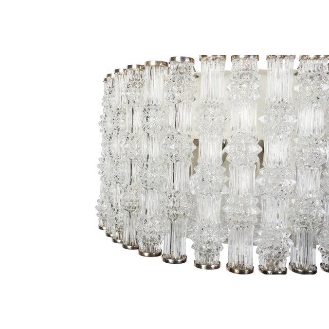 Fantastic Kaiser Primat IceTextured Crystal Drum Chandelier For Sale - Image 5 of 8