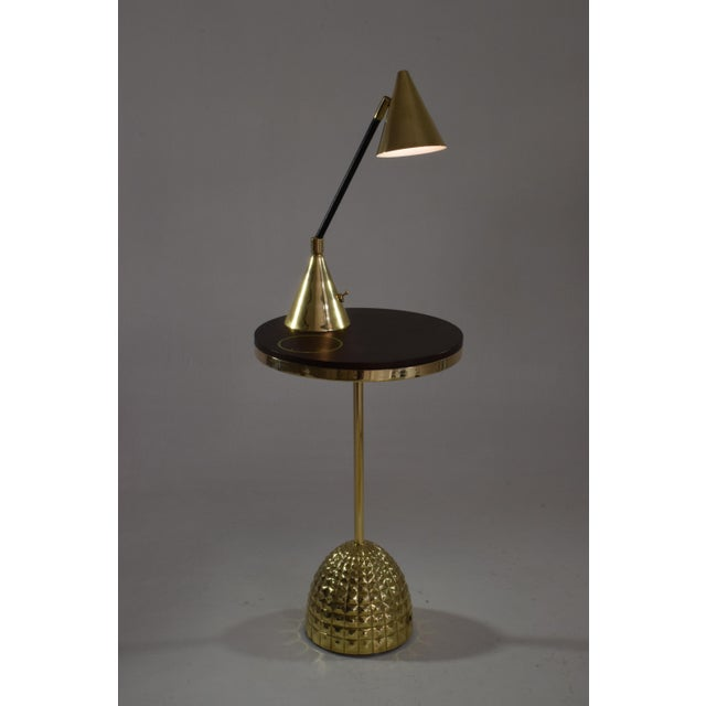 Modern Unio Contemporary Brass Charging Table, Flow Collection For Sale - Image 3 of 12