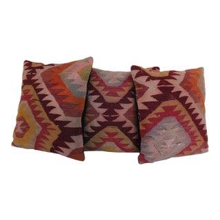 Vintage Kilim Rug Pillowcases - Set of 3