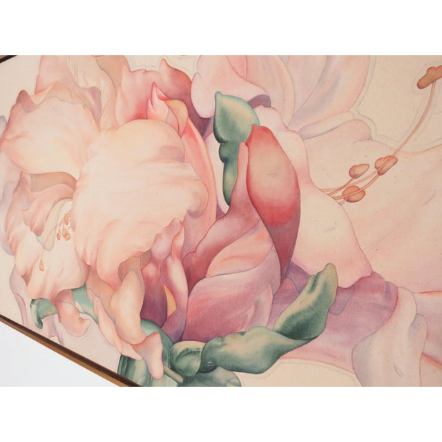 "Mid-Century Modern Large Scale Floral Painting Titled ""Audible Blooms"" by Daryl D. Johnson For Sale - Image 3 of 13"