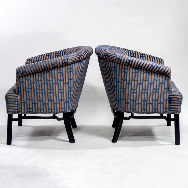 Tremendous Pair Mid Century Baker Club Chairs With New Upholstery Ibusinesslaw Wood Chair Design Ideas Ibusinesslaworg