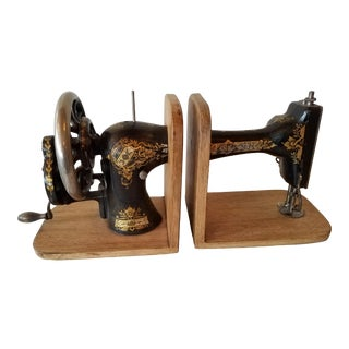 Bookends Made From an Antique Sewing Machine - a Pair For Sale