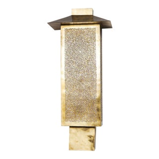 Medium Chimney-Style Brass Sconce For Sale