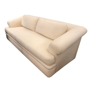 A.Rudin Off-White Upholstered Sofa For Sale