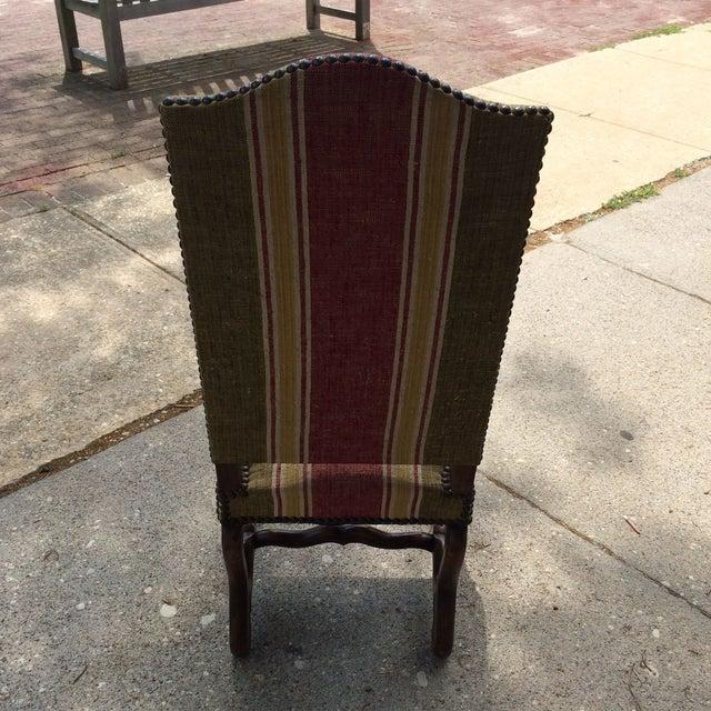 Oak Framed Oz de Mouton Upholstered Side Chair - Image 4 of 6