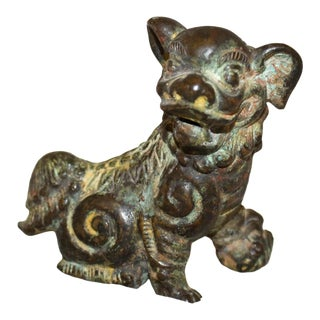 Qing Dynasty Buddhistic Bronze Lion For Sale