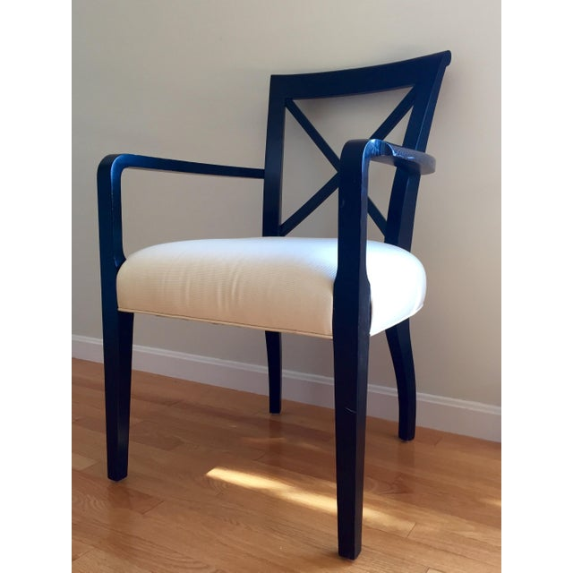 Ralph Lauren Black & White Accent Chair - Image 3 of 8