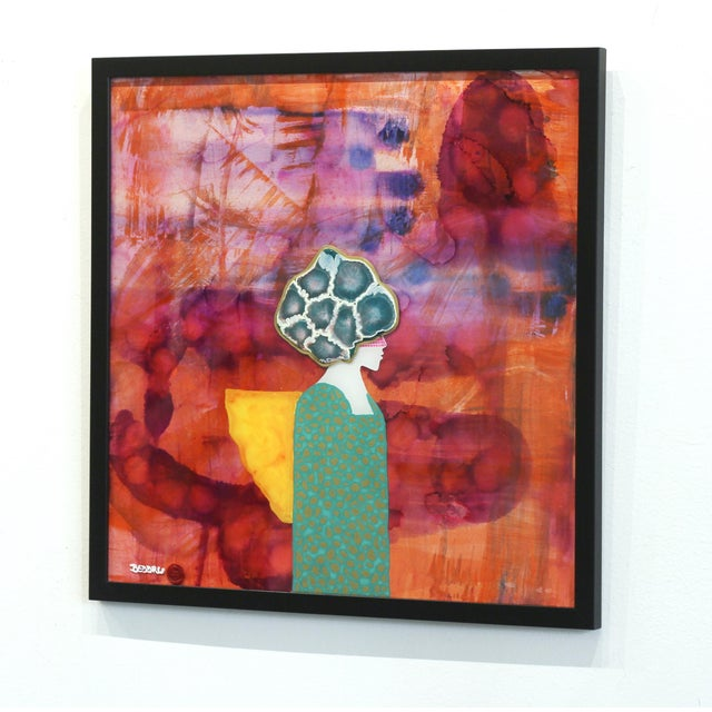 """Giuseppe Beddru """"Donna Viola"""" Contemporary Painting For Sale In Los Angeles - Image 6 of 8"""