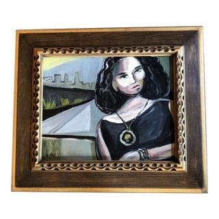 Original Stewart Ross Modernist Female Portrait Painting For Sale