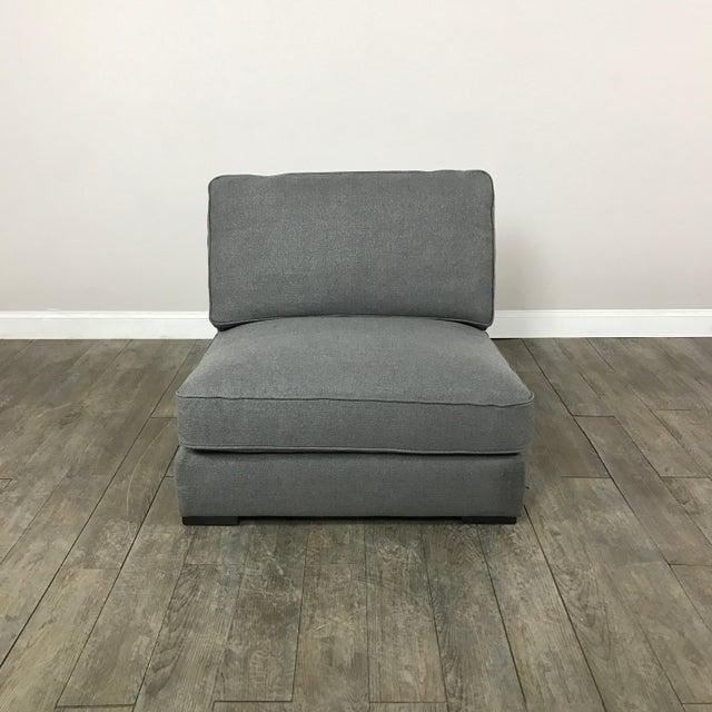 Gray Modern Armless Club Chair - Image 3 of 11