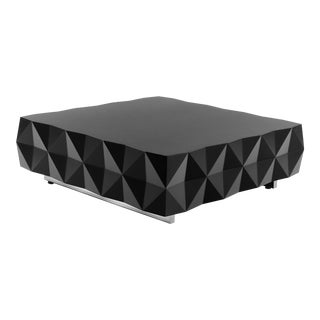 Geometric Black Coffee Table From Rocky Collection by Joel Escalona For Sale