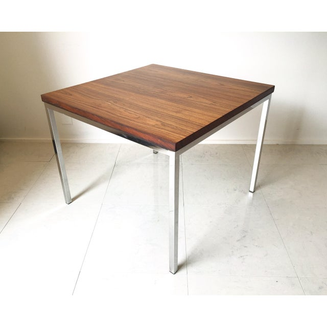 "A fantastic Rosewood table by Knoll circa early 1970's. This one is in great vintage condition. The Rosewood top ""floats""..."
