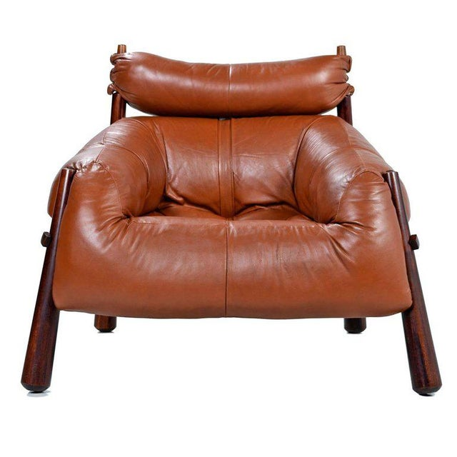 Percival Lafer Mp-81 Brazilian Rosewood & Leather Lounge Chairs and Ottoman Set For Sale - Image 11 of 13