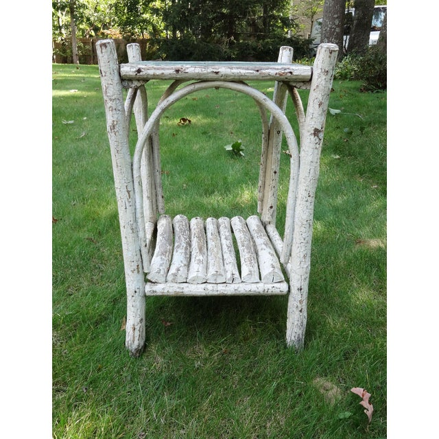 Early 20th Century Rustic Adirondack Side Table For Sale In New York - Image 6 of 8