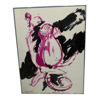 Vase on Table Abstract Still Life Painting For Sale