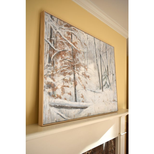 Stephen Remick Snowy Hillside Contemporary Painting For Sale - Image 11 of 13