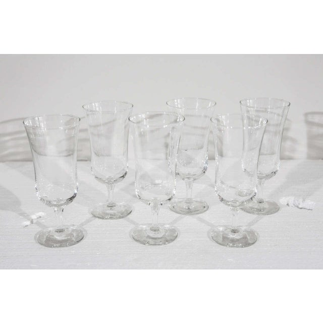 Mid-Century Modern 1940s Danish Modern Holmegaard Crystal Cordial Glasses - Set of 6 For Sale - Image 3 of 9
