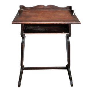 Antique Brown School Desk For Sale