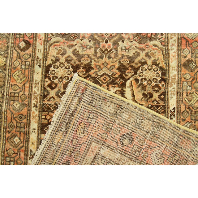 Textile 1930s Vintage Persian Zanjan Style Rug - 3′2″ × 12′9″ For Sale - Image 7 of 10