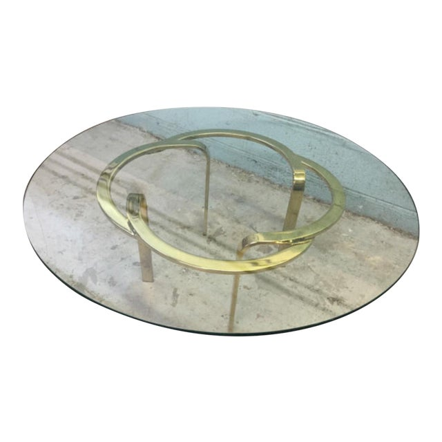 Vintage Brass Ribbon Table - Image 1 of 6