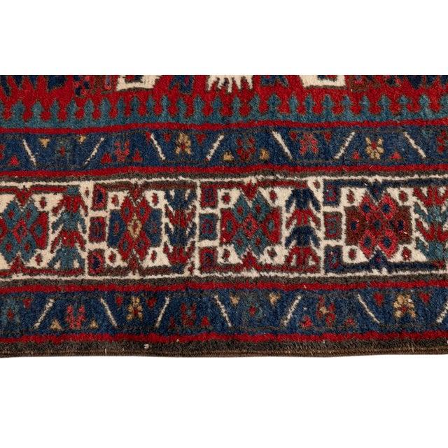 "Vintage Persian Heriz Rug, 4'8"" X 7'0"" For Sale In New York - Image 6 of 9"