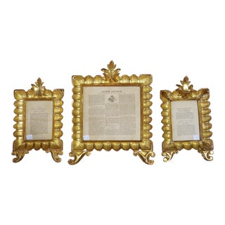 Gilt Wood Frames. Set of 3. For Sale