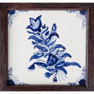 Antique Dutch Delft Framed Floral Tile Preview