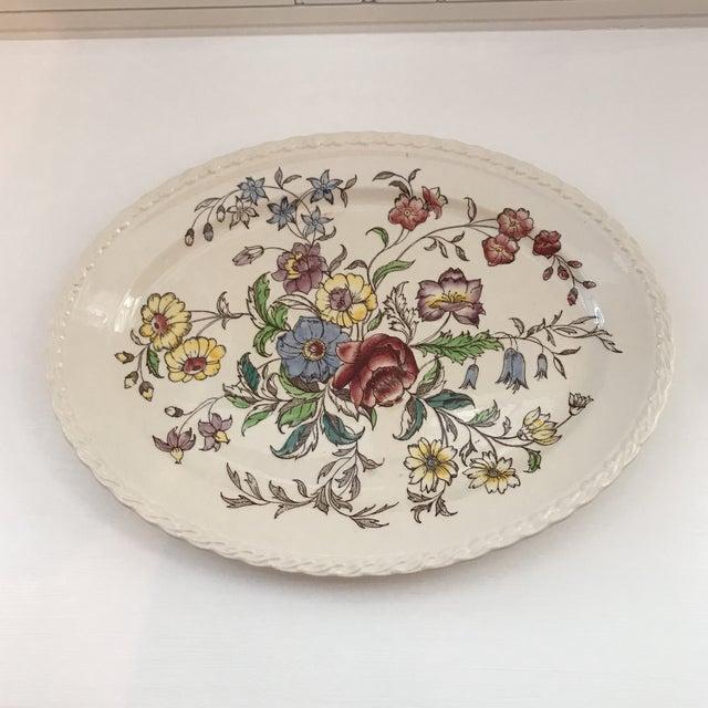 """1940s American Classical Vernon Kilns """"Mayflower"""" Platter For Sale - Image 9 of 9"""