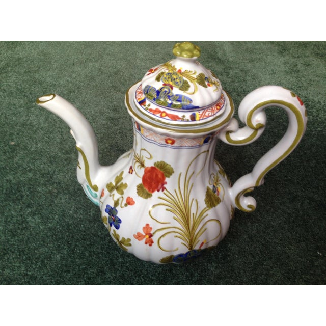 """Italian """"Blue Carnation"""" Coffee Pot For Sale - Image 10 of 10"""