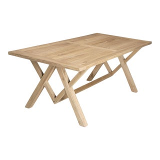 Dining or Kitchen Table Made From California White Oak For Sale