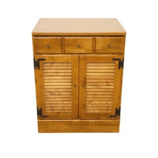 20th Century Traditional Ethan Allen Maple Shutter Door Cabinet For Sale