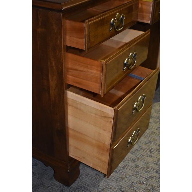 Brown 1960s Early American Ethan Allen Executive Desk For Sale - Image 8 of 12