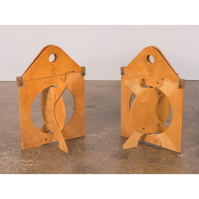 1960s 1960s Barry Simpson Rooster Folding Stools - a Pair For Sale - Image 5 of 12