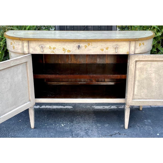 Rustic Equator Furniture Company Rustic Painted Sideboard Buffet Credenza Cabinet For Sale - Image 3 of 8