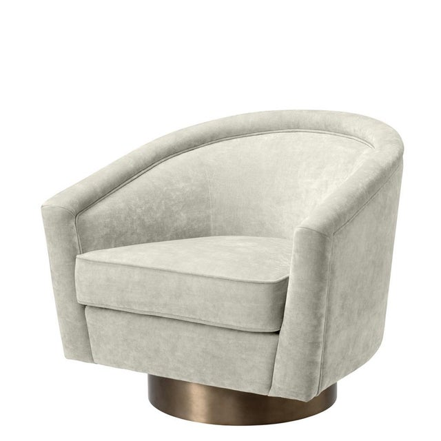 2010s Eichholtz Catene Beige Swivel Chair For Sale - Image 5 of 5