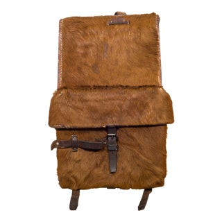 Early 20th C. Swiss Army Cowhide Backpack C.1945 For Sale