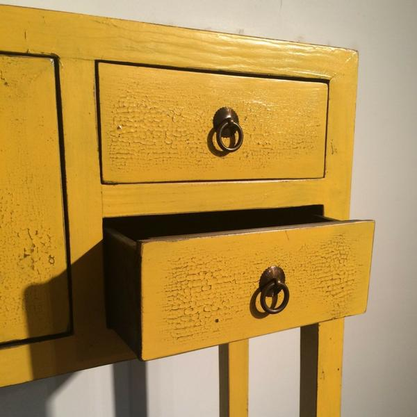 Daffodil Yellow Art Deco Desk For Sale - Image 4 of 4