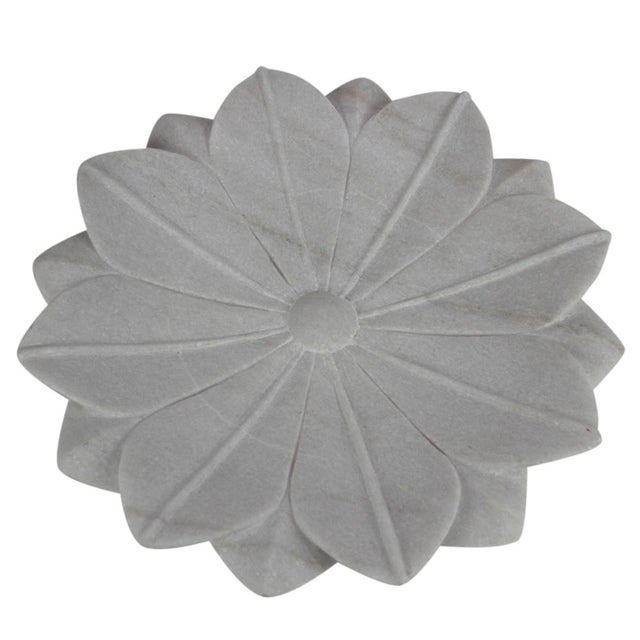 Large Blossoming Lotus Marble Plate - Image 2 of 3