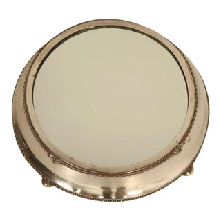 English Antique Silver Plated Mirror Plateau by Fenton Bros. Ltd For Sale