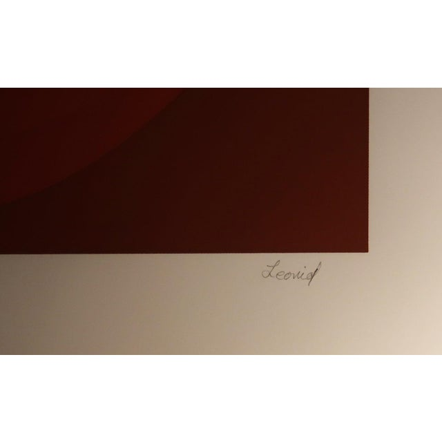 """Mid-Century Modern Leonid """"Untitled (Red Ombre)"""" Silkscreen Print For Sale - Image 3 of 3"""