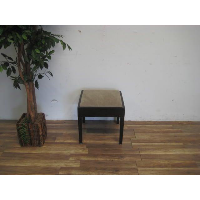 Amtrend Dark Wood Finish/Grey Upholstery Stool - Image 3 of 7