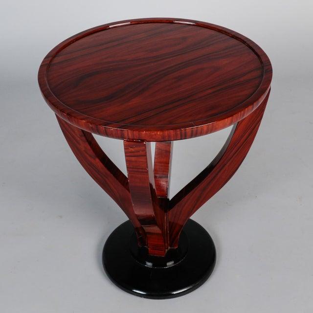 1930s Art Deco Round Palasander Table on Pedestal Base For Sale - Image 5 of 8