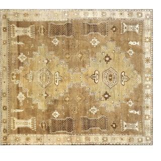 "Nalbandian - 1960s Turkish Oushak Carpet - 11'1"" X 12'4"" For Sale"