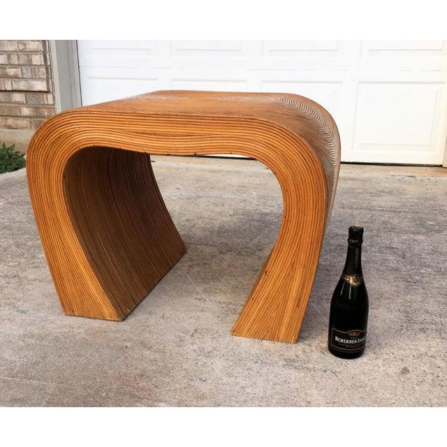 Gabriella Crespi Vintage Split Reed Side Table For Sale - Image 4 of 6