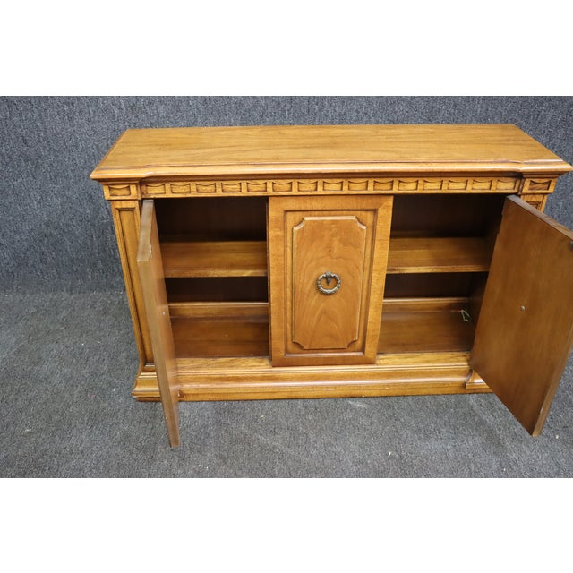 Brown Italian Style Fruitwood Credenza For Sale - Image 8 of 9