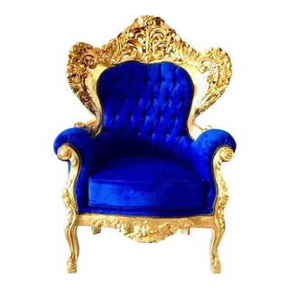 1950s Vintage French Baroque Style Chair For Sale
