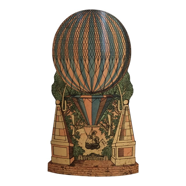 Vintage Mid-Century Piero Fornasetti Hot Air Balloon Umbrella Stand For Sale