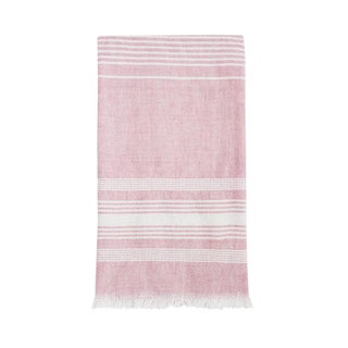 Boho Chic Light Pink Cotton Kitchen Towel For Sale
