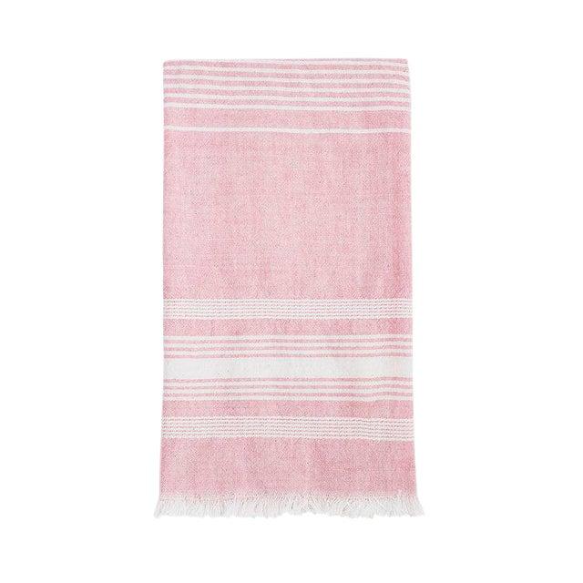 Boho Chic Light Pink Cotton Kitchen Towel For Sale