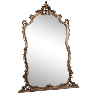 Vintage Italian Rococo Style Mirror For Sale